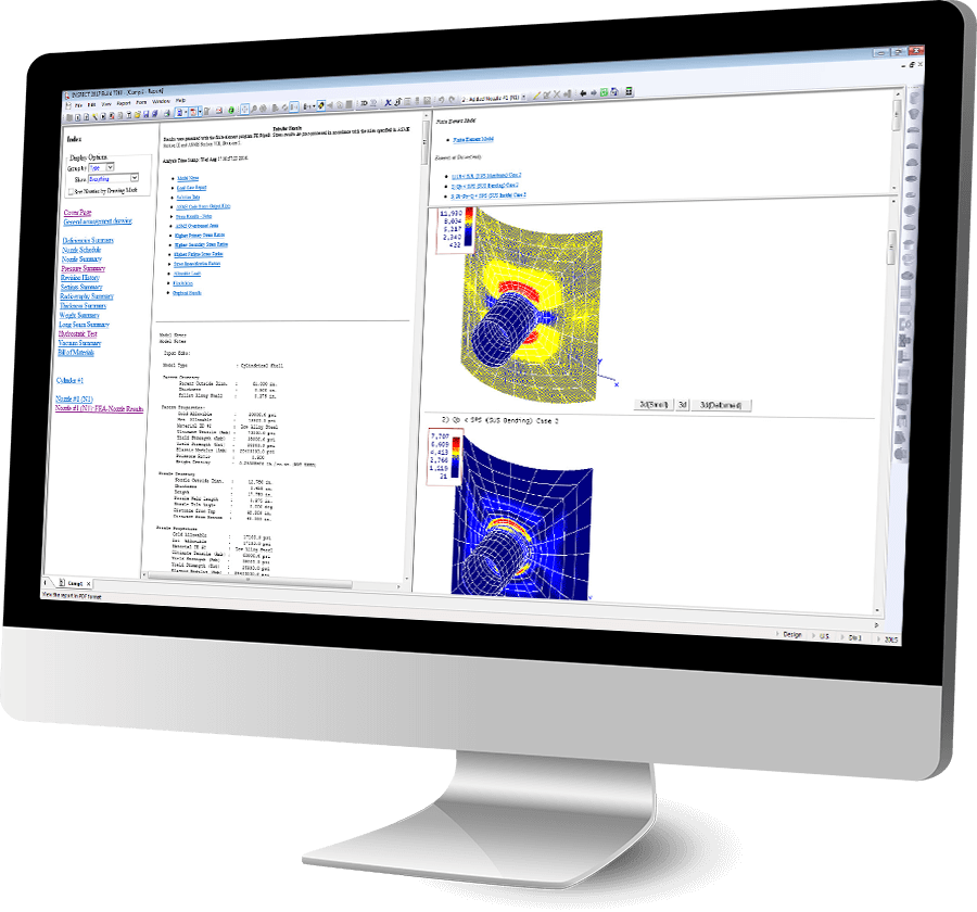 COMPRESS and INSPECT include nozzle finite element analysis (FEA) and WRC 107/WRC 537 at no extra cost