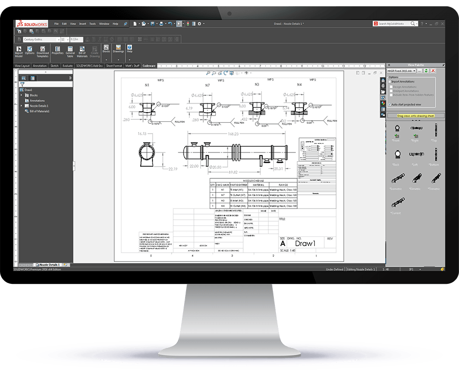 Drafter 3D creates drawings from COMPRESS designs and is included with the CWI at no additional cost.