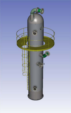 Pressure Vessel Solid Model in COMPRESS
