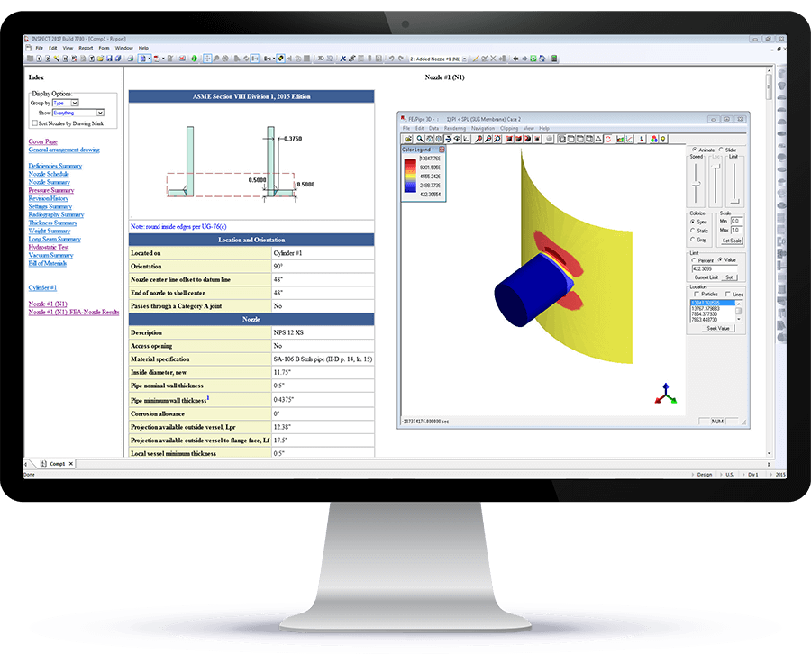 Nozzle Finite Element Analysis (FEA) is included at no additional charge