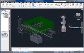 A COMPRESS Designed Pressure Vessel Loaded Into AutoCAD® Plant 3D