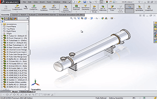 SOLIDWORKS Heat Exchanger