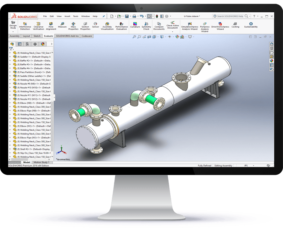 COMPRESS pressure vessel software designs can be imported into SOLIDWORKS and Inventor via the Codeware Interface