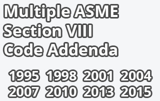 Multiple ASME Section VIII Code Addenda