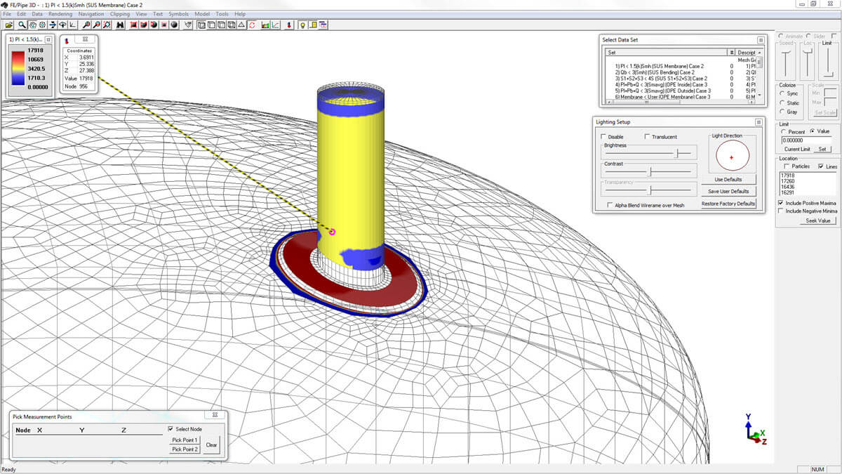 COMPRESS and INSPECT feature pressure vessel FEA which includes nozzle  fatigue analysis