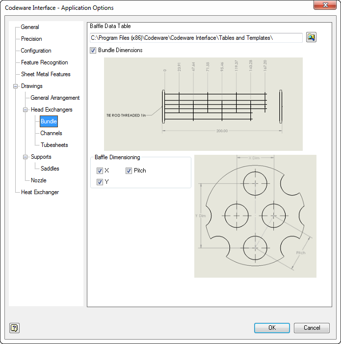 COMPRESS includes the Codeware Interface which automatically generates tube bundle and other detail drawings