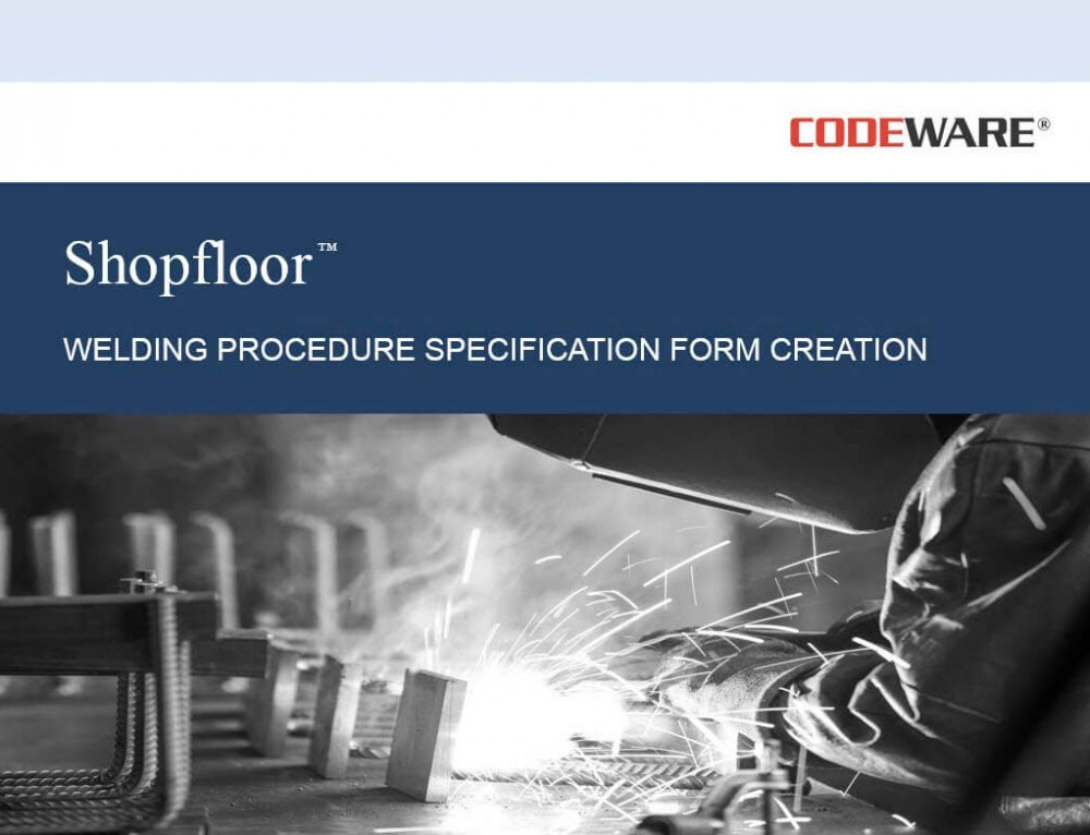 Welding Procedure Specification (WPS) Creation