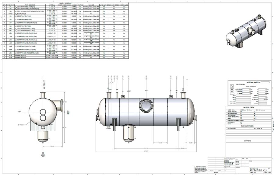 The Codeware Interface, included with the COMPRESS pressure vessel design system, generates drawings automatically