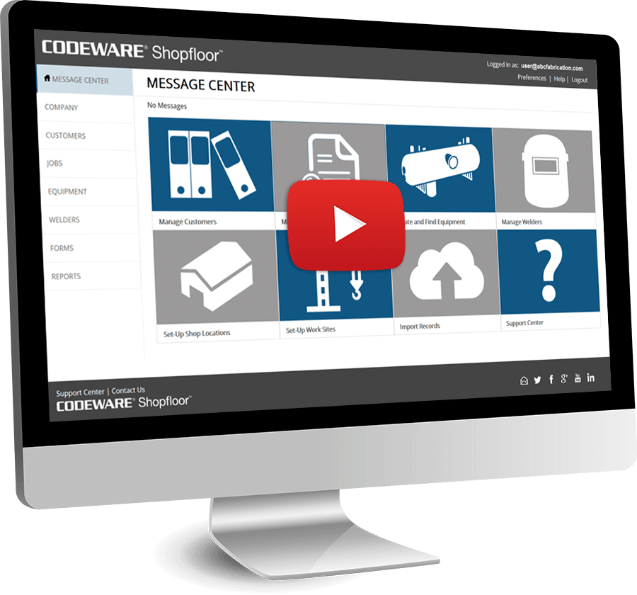 Shopfloor Modernized Welding Software