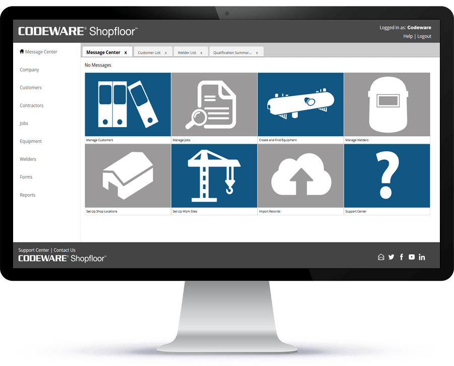 Shopfloor 2020 supports AWS D1.1 and is complaint with the 2019 Edition of the ASME BPVC