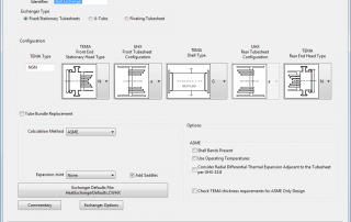 Heat Exchanger Dialog in COMPRESS