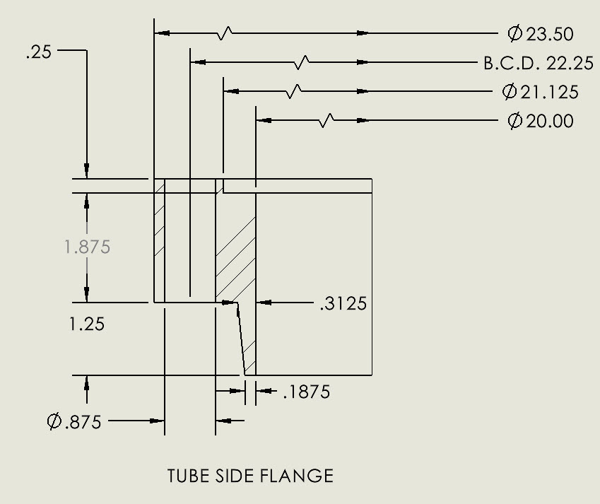 Appendix 2 custom flange detail drawings are generated by the Codeware Interface