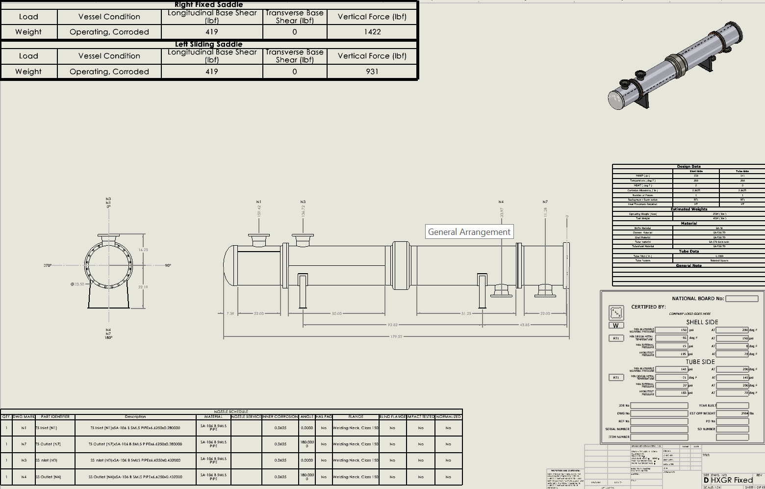 General arrangement drawings are generated by the Codeware Interface