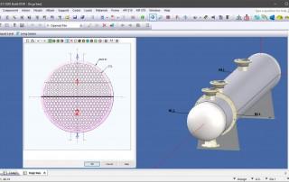 La interfaz gráfica del intercambiador de calor COMPRESS le permite ver la construcción de su recipiente mientras realiza cambios en el diseño mecánico.