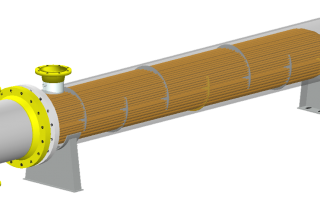 Heat Exchanger model showing internal components in COMPRESS