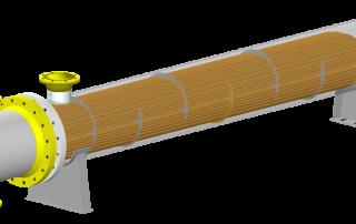 Heat Exchanger model showing internal components in COMPRESS