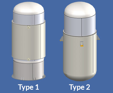 Jacketed Vessels in COMPRESS - Type 1 and 2