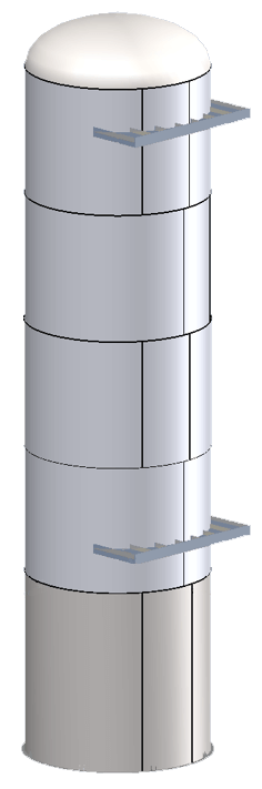 Shipping (aka Transportation) Saddles on Vertical Pressure Vessels Can be Designed by COMPRESS