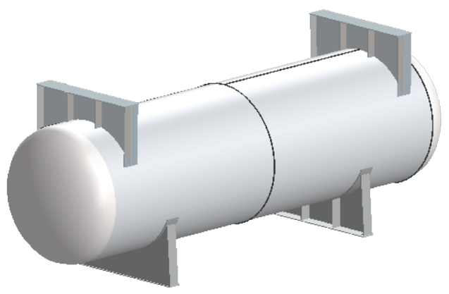 COMPRESS Can Add Shipping Saddles to Any Pressure Vessel Including Horizontally Supported Vessels
