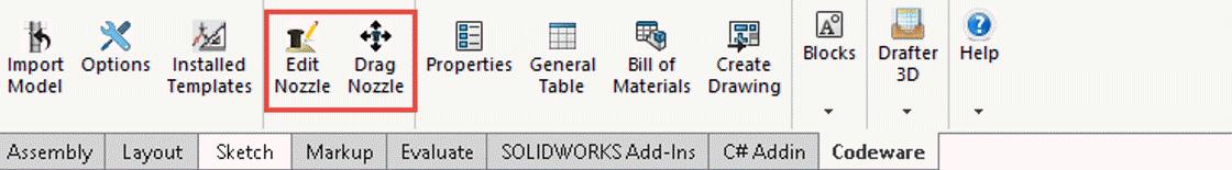The Codeware Interface Menu in SOLIDWORKS