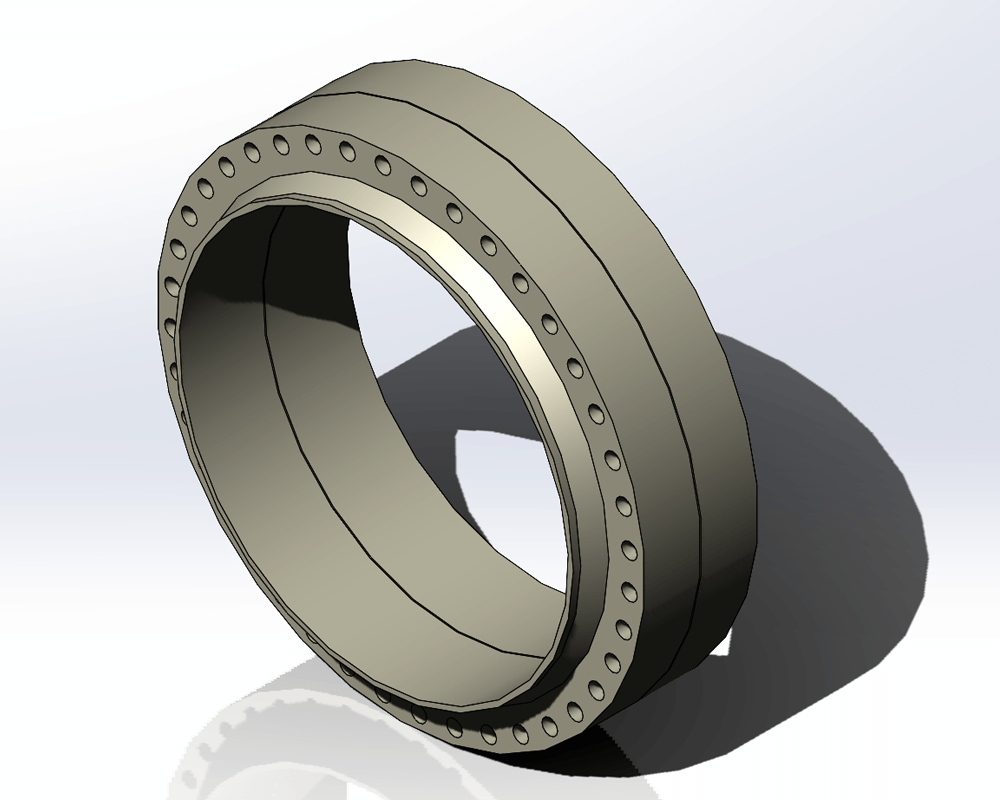 Flange Solid Model Created With the Codeware Interface