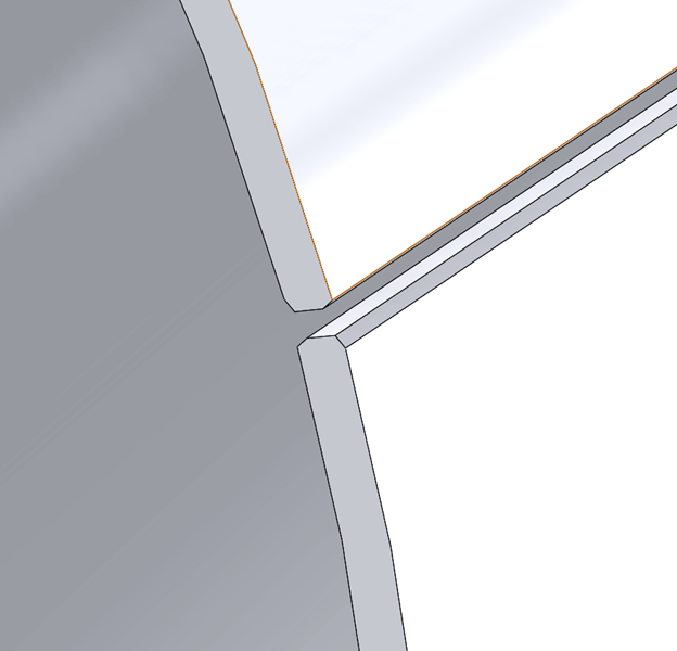 CWI Edge Prep Detail in SOLIDWORKS