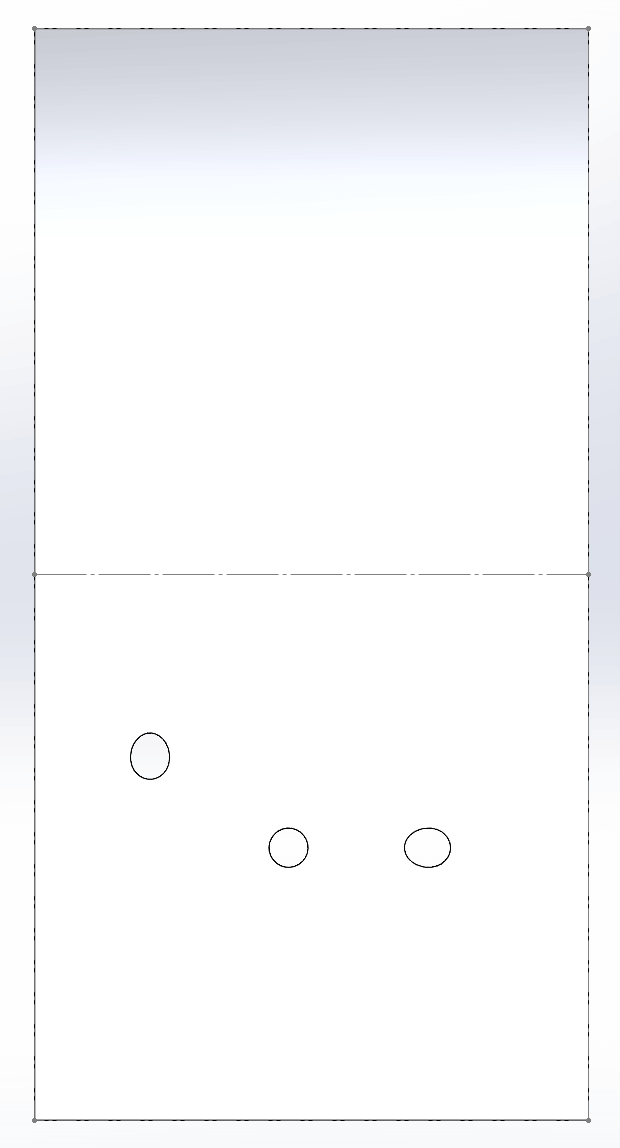 A CWI cylindrical shell rolled out flat using the SOLIDWORKS Sheet Metal function