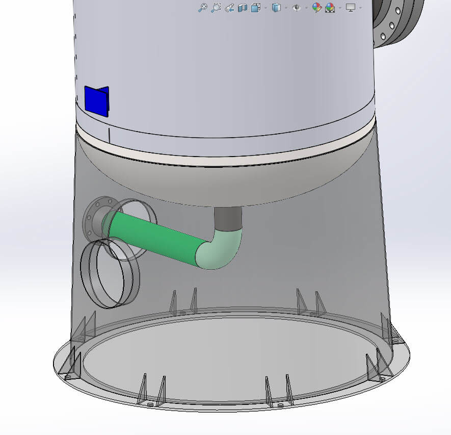 Pressure Vessel Nameplate exported from COMPRESS to SOLIDWORKS
