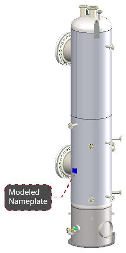 Pressure Vessel and Heat Exchanger Nameplate Design in COMPRESS