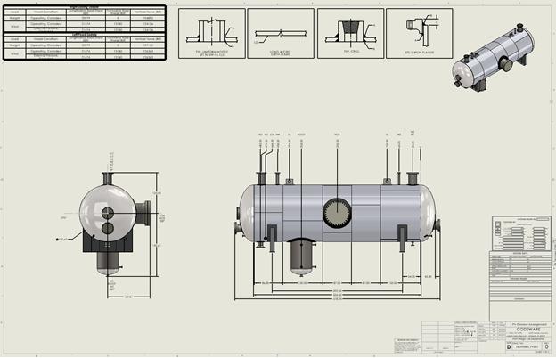 Codeware Interface (CWI) generated general arrangement drawing