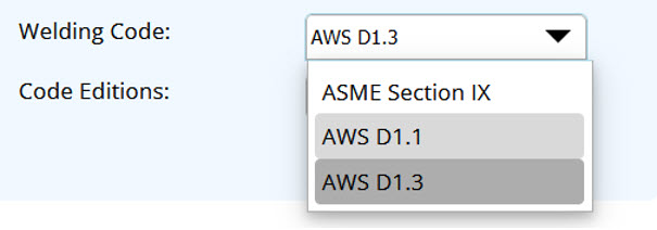 Welding Codes Supported by Shopfloor Include AWS D1.3, AWS D1.1 and ASME IX